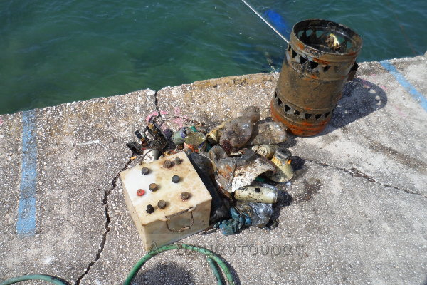 Καθαρισμός λιμανιού Σκάλας Καλλιράχης
